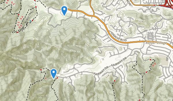 trail locations for Ignacio Valley Preserve