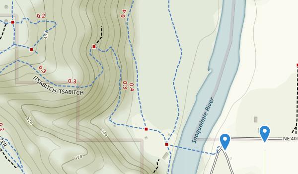 trail locations for John Macdonald Tolt River Park