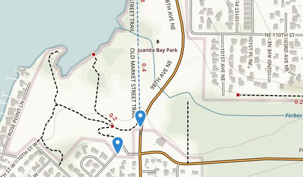 trail locations for Juanita Bay Park