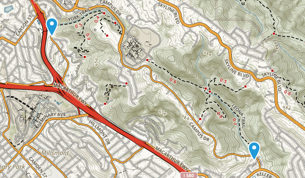 Leona Regional Open Space Park Map