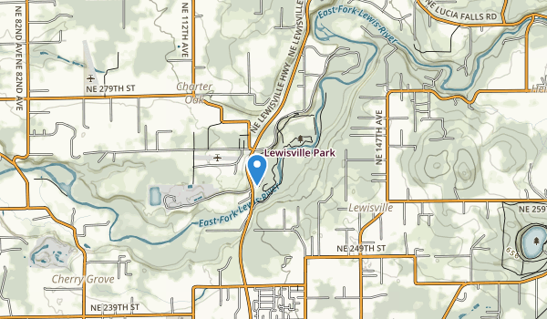 trail locations for Lewisville Park
