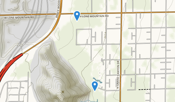 Lone Mountain Park Map