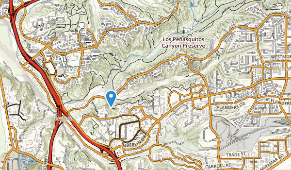 trail locations for Lopez Canyon Open Space
