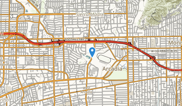 trail locations for Los Angeles County Aboretum