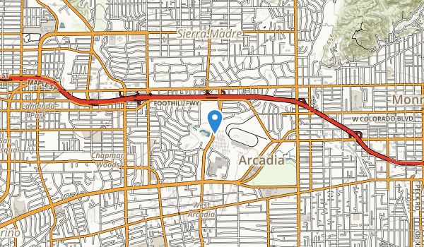 Los Angeles County Aboretum Map