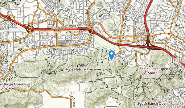 trail locations for Lynn Oaks Park