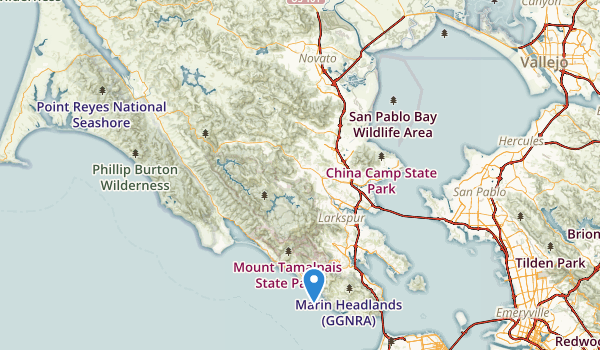 trail locations for Marin Highlands Park