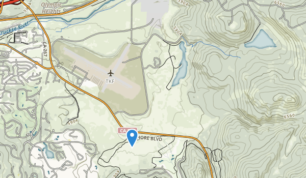 trail locations for Martis Creek Lake Rec Area