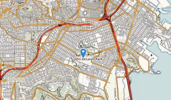 trail locations for Mclaren Park