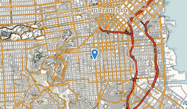 trail locations for Mission Dolores Park