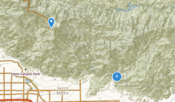 trail locations for Monrovia Canyon Park