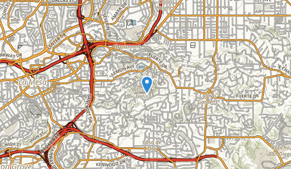 Mount Helix County Park Map