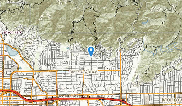 trail locations for Mount Wilson Trail Park