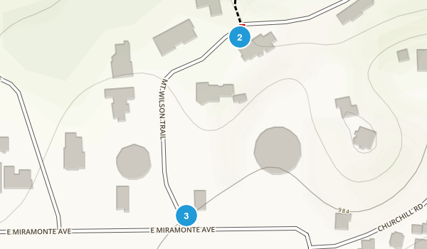 Mount Wilson Trail Park Map