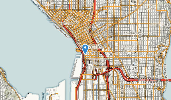 trail locations for Pioneer Square Park