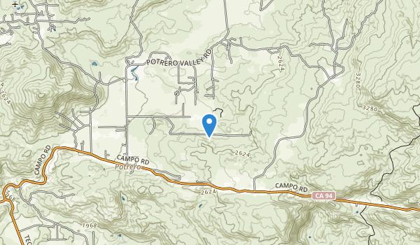trail locations for Potrero County Park