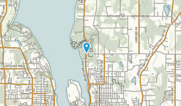 Priest Point Park Map