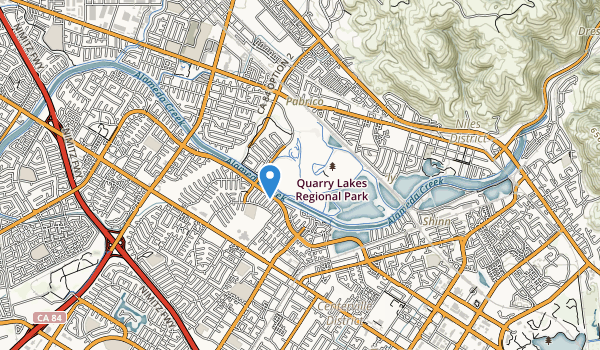 Quarry Lakes Regional Park Map