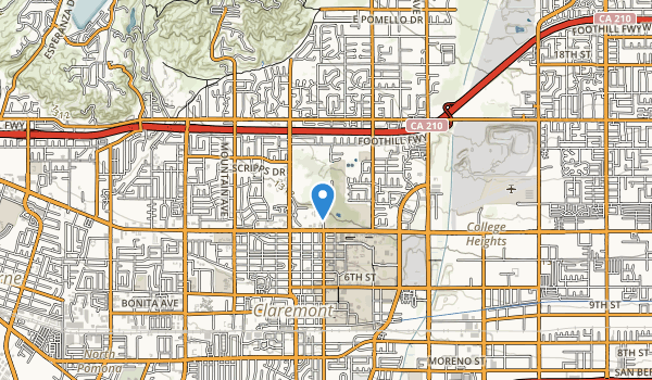 Rancho Santa Ana Botanic Gdns Map