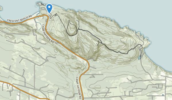 trail locations for Salt Creek Recreation Area