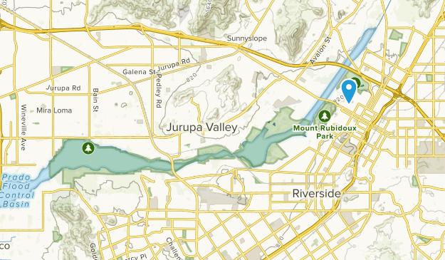 Santa Ana River Reg Park Map
