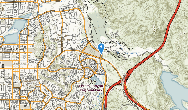 trail locations for Santiago Hills Park