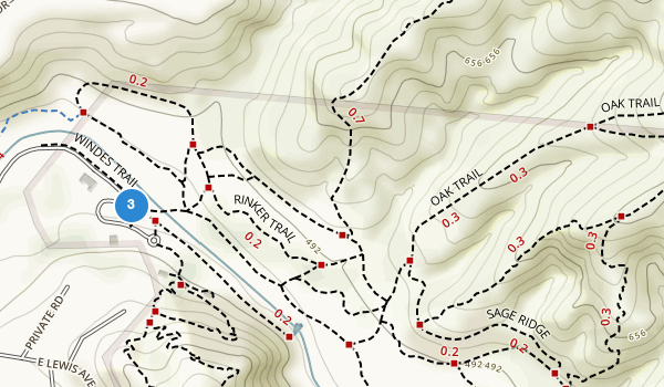 trail locations for Santiago Oaks Regional Park