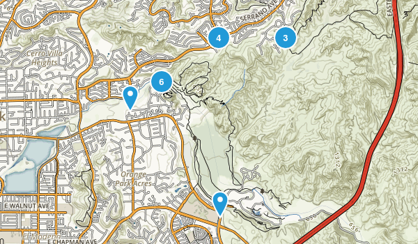 Santiago Oaks Regional Park Map