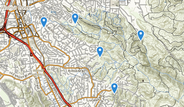trail locations for Shell Ridge Open Space