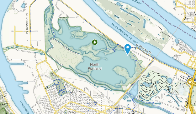 Smith & Bybee Lakes Park Map