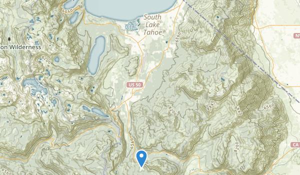 South Lake Tahoe-El Map