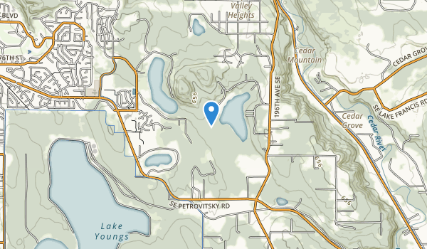 trail locations for Spring Lake/Lake Desire Park