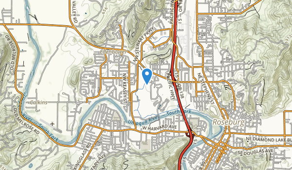 trail locations for Stewart Park