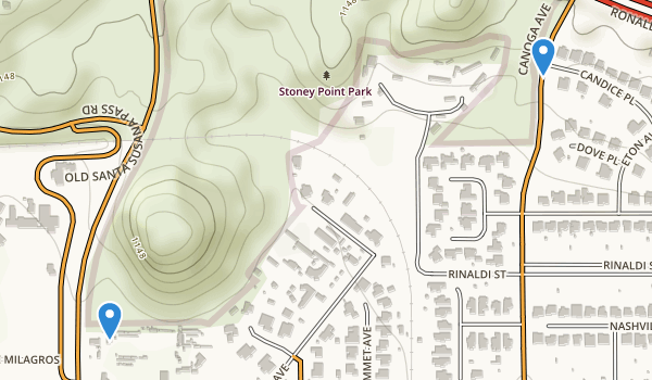 trail locations for Stoney Point Park