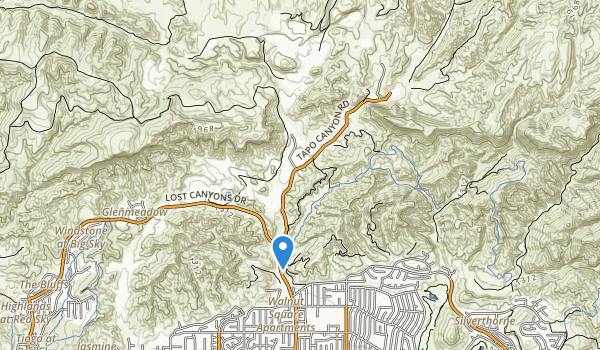 trail locations for Tapo Canyon Park