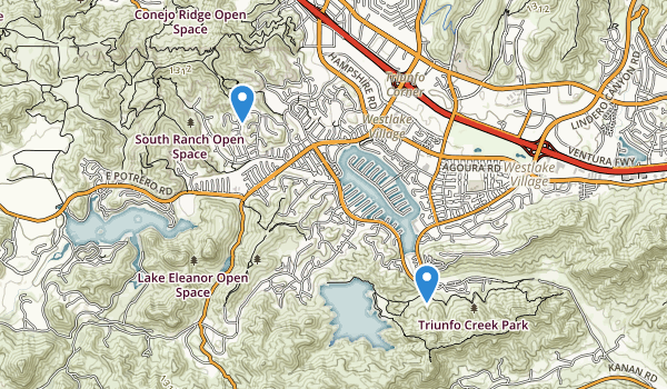 trail locations for Triunfo Community Park
