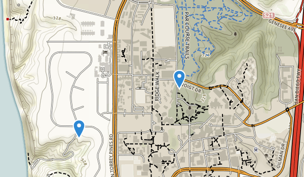 trail locations for Univ Of Cal-San Diego Park