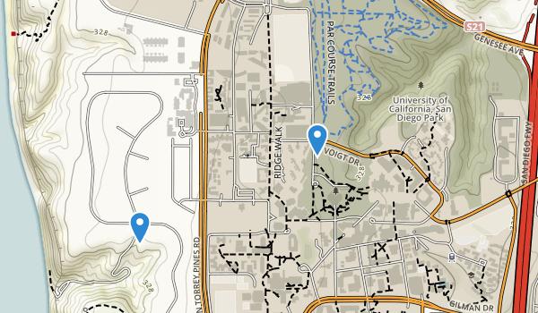 Univ Of Cal-San Diego Park Map