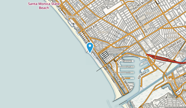 Venice City Beach Map