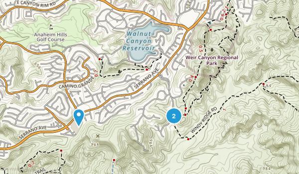 Weir Canyon Regional Park Map