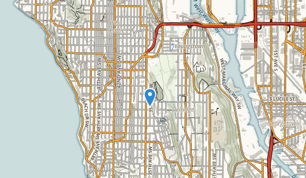 trail locations for West Seattle Recreation Area