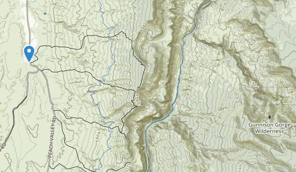 trail locations for Gunnison Gorge Wilderness