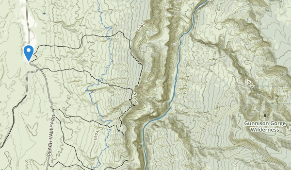 Gunnison Gorge Wilderness Map