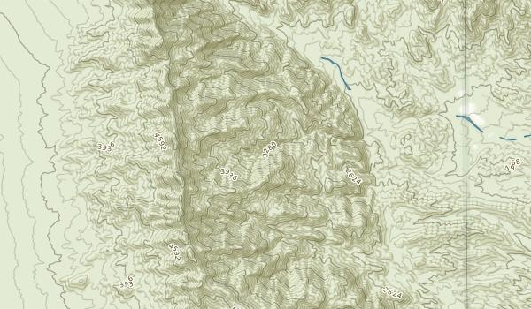 Ireteba Peaks Wilderness Map