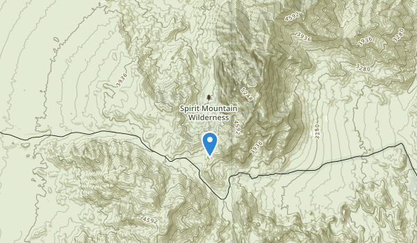 trail locations for Spirit Mountain Wilderness