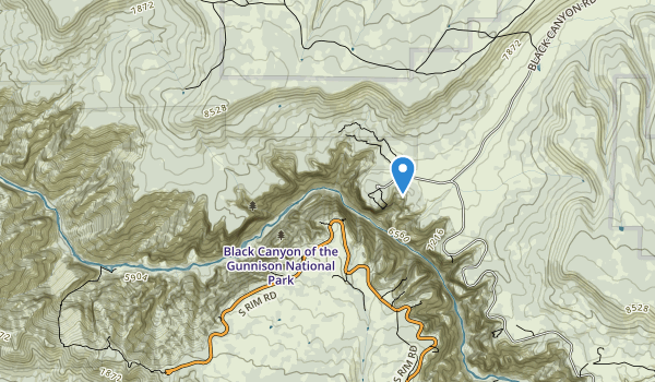 trail locations for Black Canyon of the Gunnison Wilderness