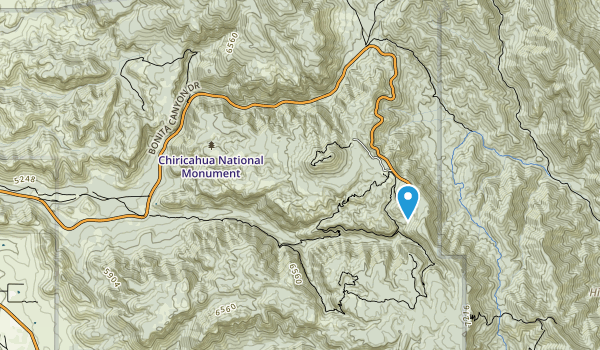 Chiricahua National Monument Wilderness Map