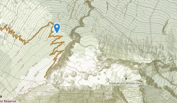 trail locations for Haleakala Wilderness