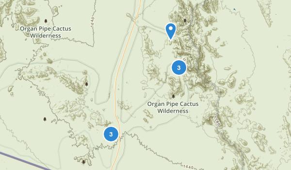 Organ Pipe Cactus Wilderness Map
