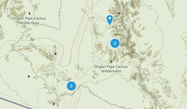 Organ Pipe Cactus Wilderness Map